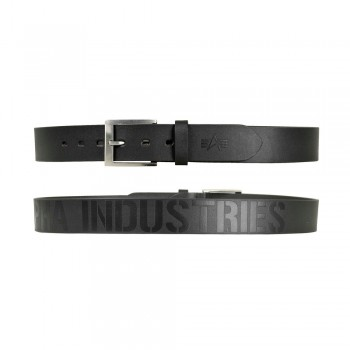 Embossed Alpha Belt - black