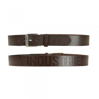 Embossed Alpha Belt - brown