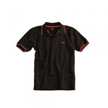 Twin Stripe Polo II - black/red