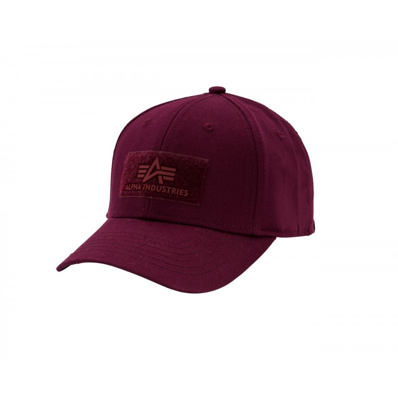 Velcro Cap - burgundy