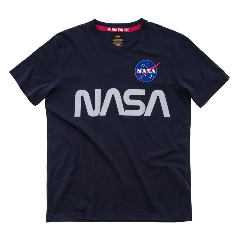 NASA Reflective T - replica blue