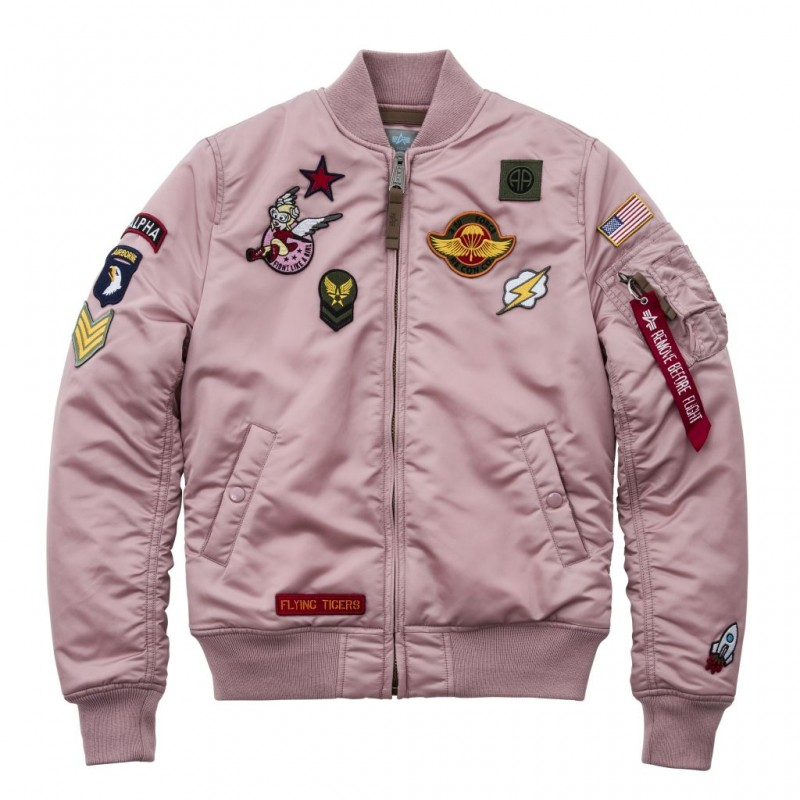 MA-1 VF PATCH Woman - silver pink