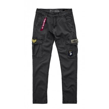 Petrol Patch Pant - greyblack