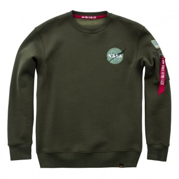 Space Shuttle Sweater - dark green