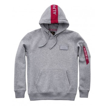 Red Stripe Hoody - greyheather