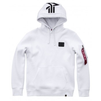 Back Print Hoody - white