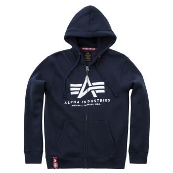 Basic Zip Hoody - navy