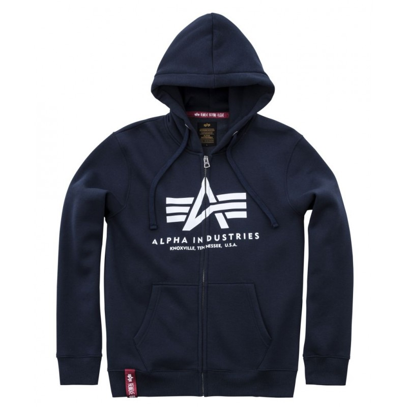 Basic Zip Hoody - navy