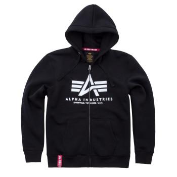 Basic Zip Hoody - black
