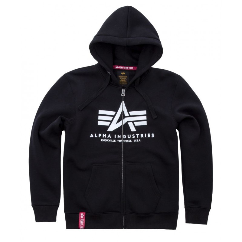 Basic Zip Hoody - black