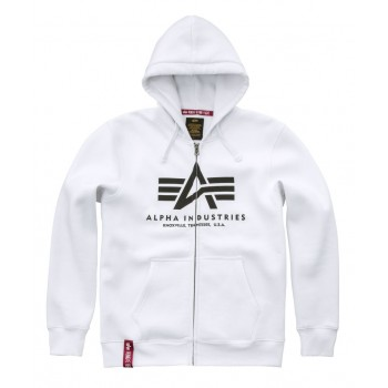Basic Zip Hoody - white