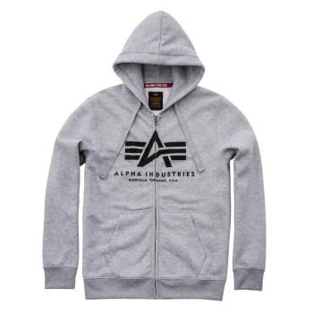 Basic Zip Hoody - greyheather