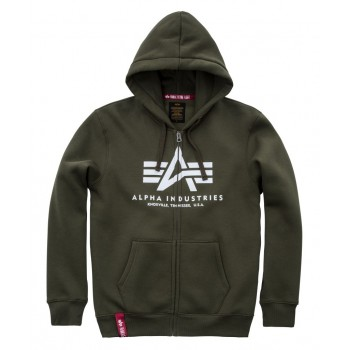 Basic Zip Hoody - dark green