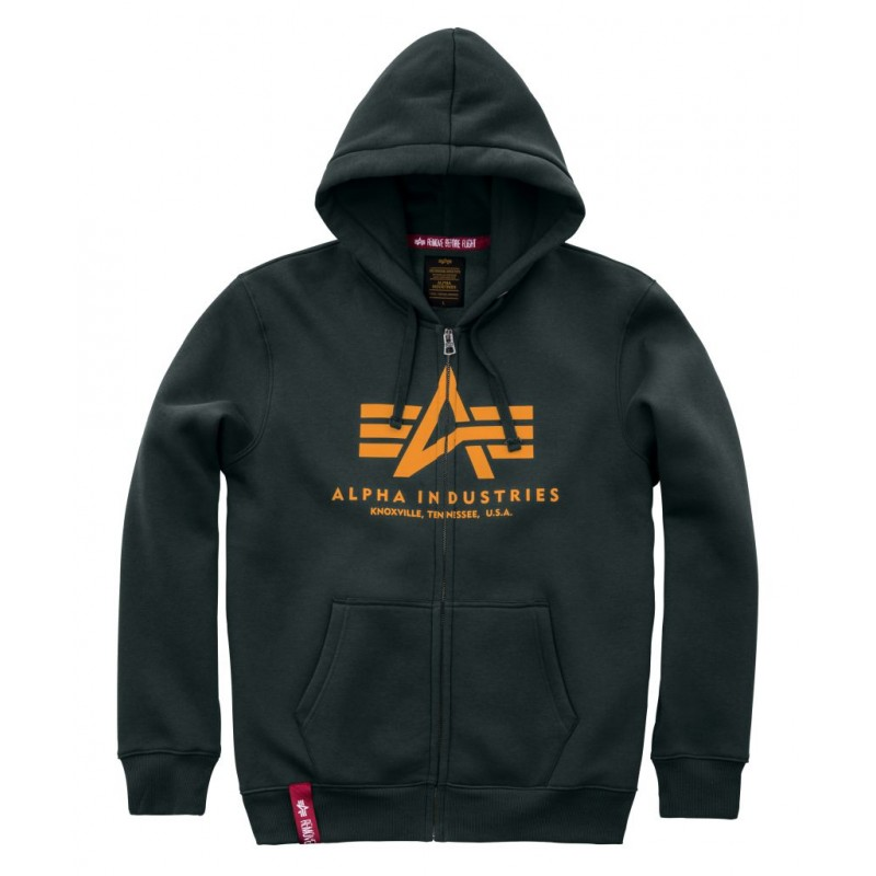 Basic Zip Hoody - dark petrol