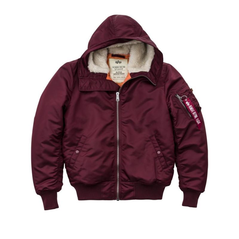 MA-1 Hooded - burgundy