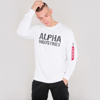 Camo Print Sweat - white