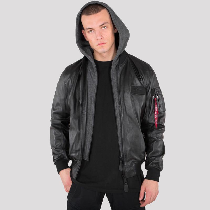 MA-1 D-Tec Leather LW - black/black