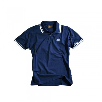 Twin Stripe Polo II - navy/white
