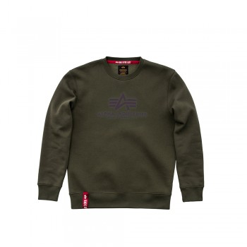Basic Sweater - dark green/lilac