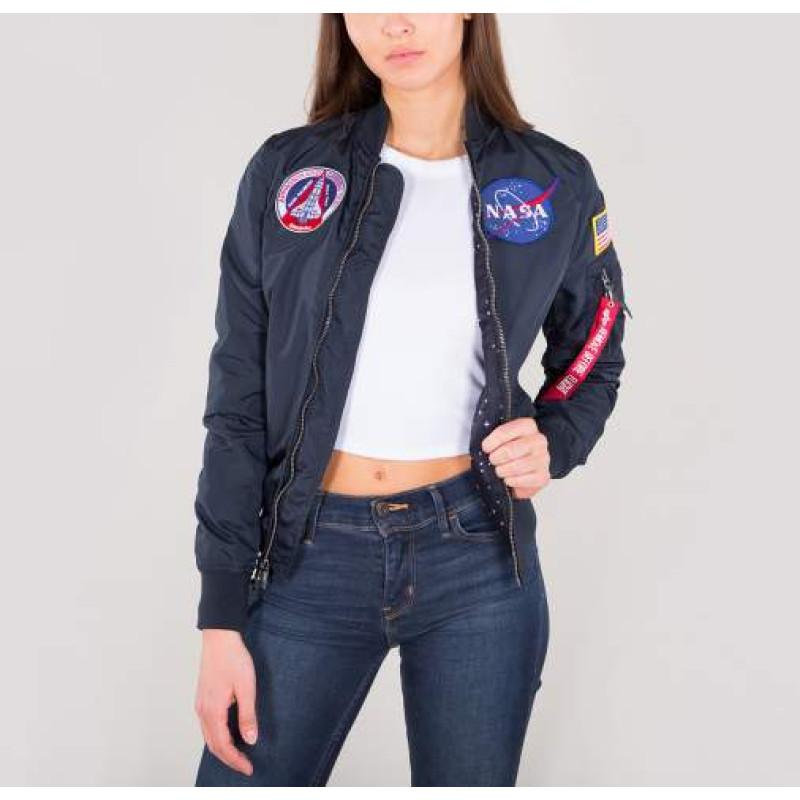 MA-1 TT NASA Reversible Woman  - replica blue