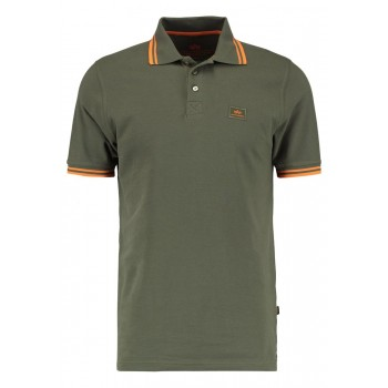 Twin Stripe Polo II - dark olive