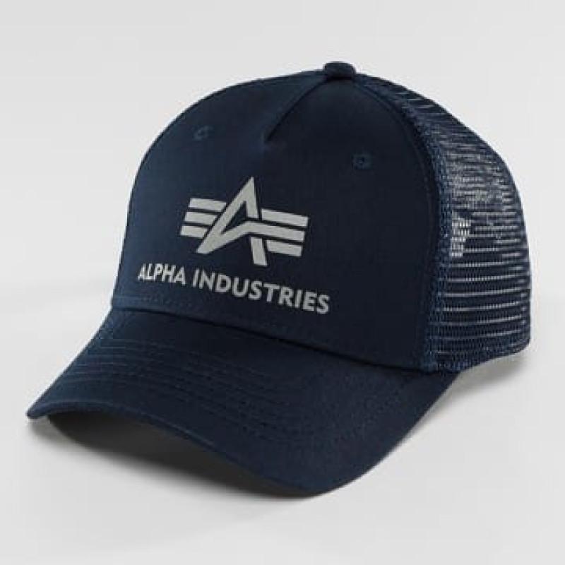 Basic Trucker Cap - replica blue
