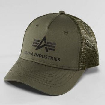 Basic Trucker Cap - dark green