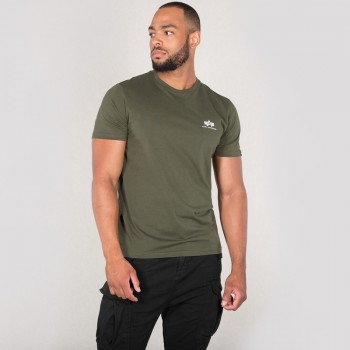Basic T Small Logo - dark olive