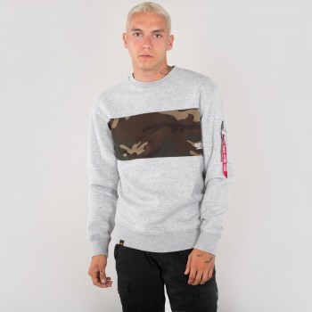 Camo Bar Sweater - greyheather