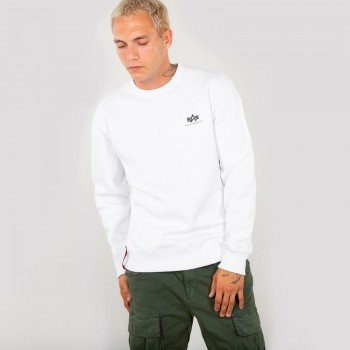 Basic Sweater Small Logo - white