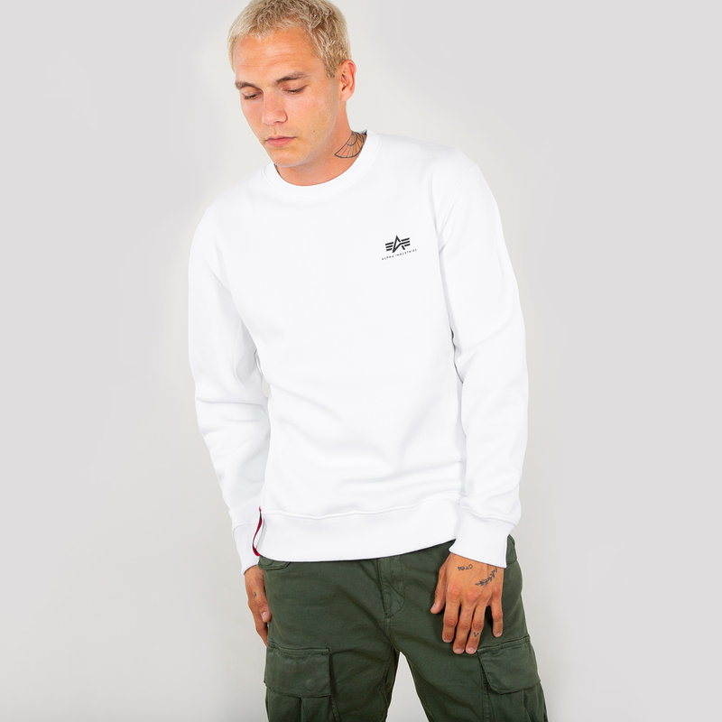 Basic Sweater Small Logo - white