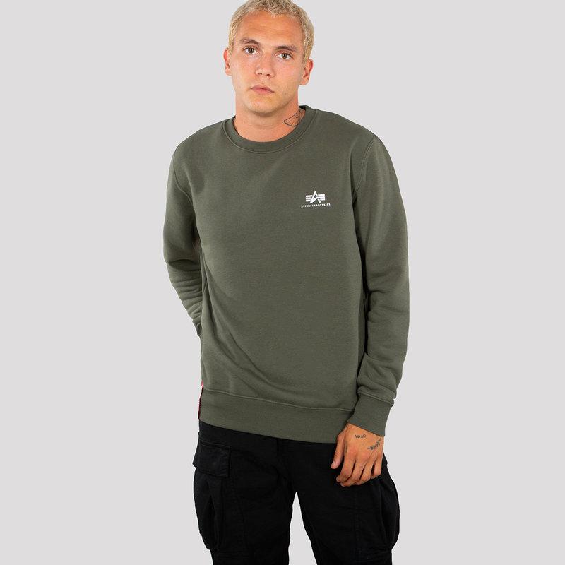 Basic Sweater Small Logo - dark olive