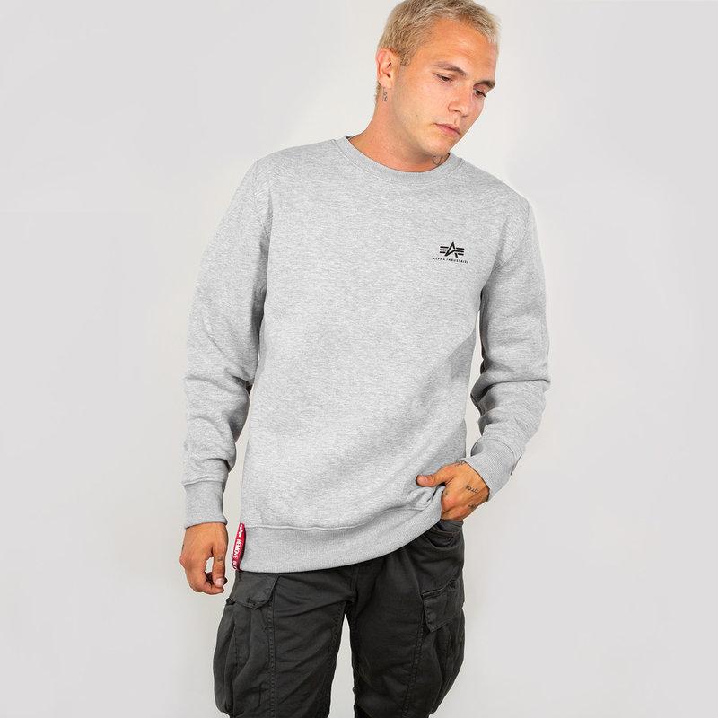 Basic Sweater Small Logo - greyheather
