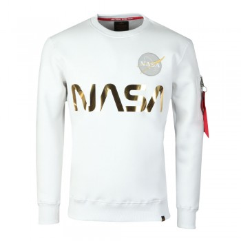 NASA Reflective Sweater - white/gold