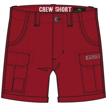 CREW SHORT - rbf red