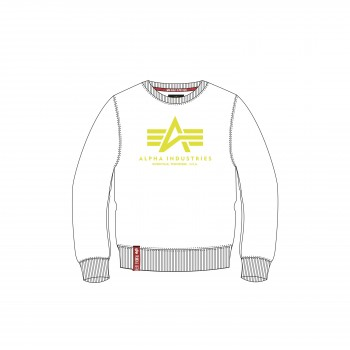 Basic Sweater - white/neon/yellow