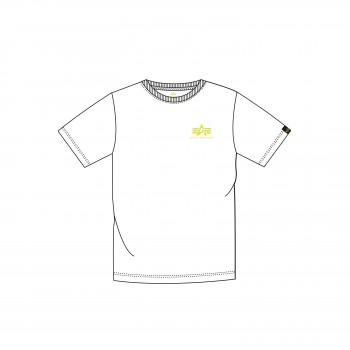 Basic T Small Logo - white/neon yellow