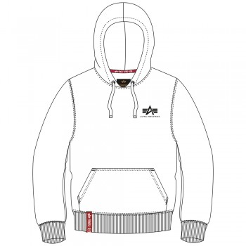 Basic Hoody Small Logo Woman - white