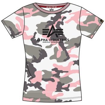 New Camo Basic T Woman - grey pink camo