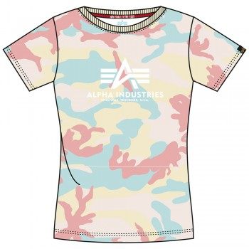 New Camo Basic T Woman - yellow pink camo