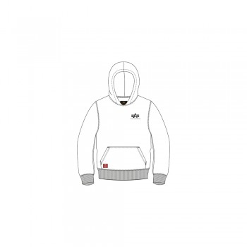 Basic Hoody Small Logo Kids - white
