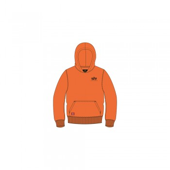 Basic Hoody Small Logo Kids - alpha orange