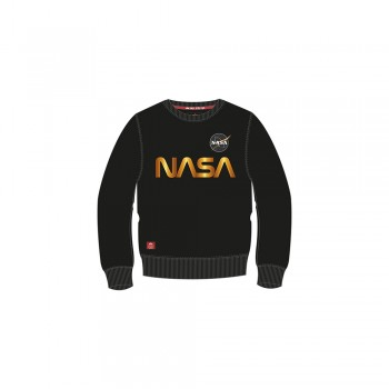 NASA Reflective Sweater Kids - black/shiny gold