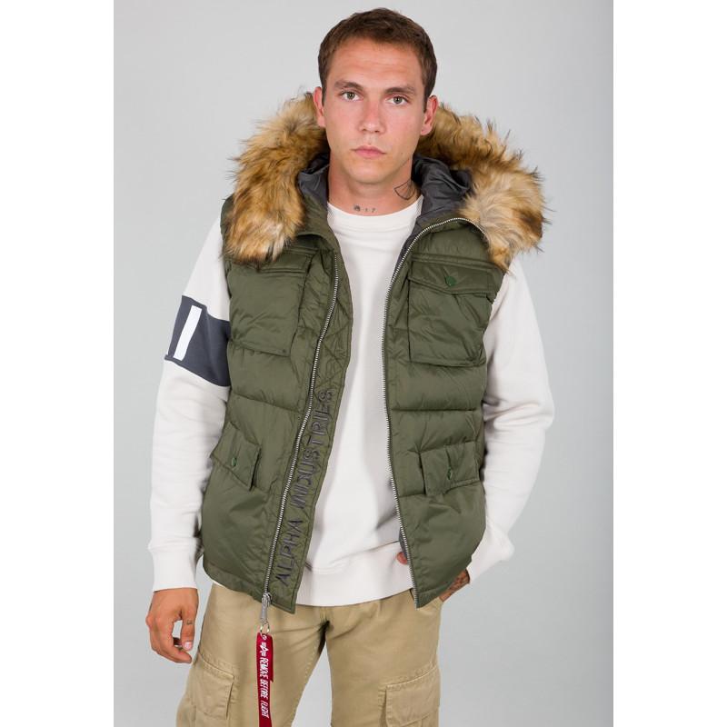 Hooded Field Vest FD - dark green - Sale