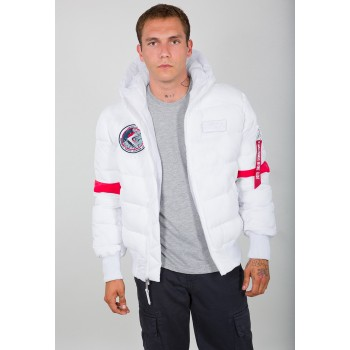 Hooded Puffer FD NASA - white