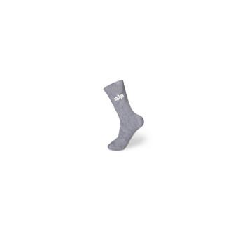 Basic Socks 3 Pairs - greyheather