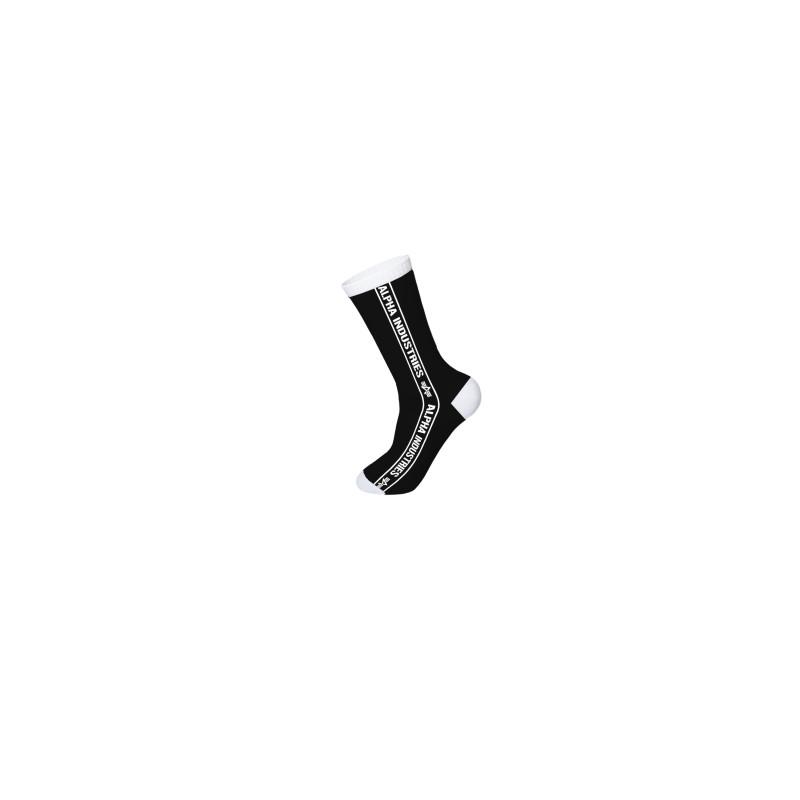 Alpha Ind. Side Stripe Socks - black