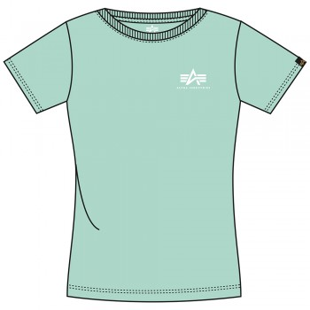 Basic T Small Logo Woman - pastel mint