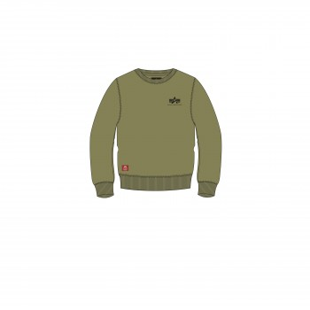Basic Sweater Small Logo Kids/Teens - olive