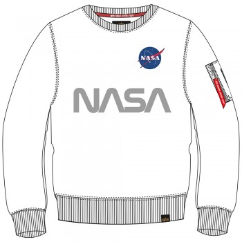 NASA Reflective Sweater - white